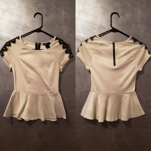 Women's Beige Small Grass Collection Blouse